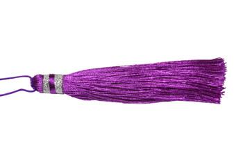 Purple 3.5 Inch Silver Wrap Tassel
