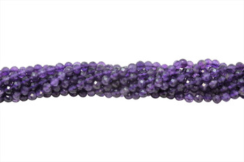 Amethyst Polished 5mm Faceted Round