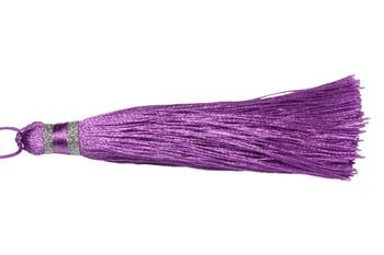 Light Purple 3.5 Inch Silver Wrap Tassel
