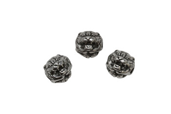 Stainless Steel 10mm Tiger Head Bead
