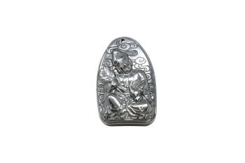 Hematite 20x48mm Buddha Pendant