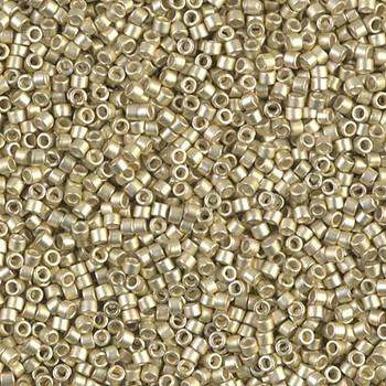 Delicas Size 11 Miyuki Seed Beads -- 1151 Galvanized Silver Semi Matte