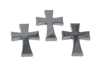 Hematite 27x38mm Cross