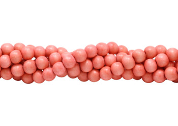 Dyed Coral Wood Polished 8mm Round