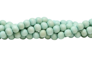 Dyed Mint Green Wood Polished 8mm Round
