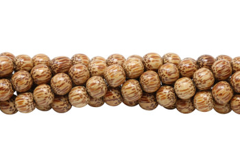 Palm Wood Polished 10mm Round