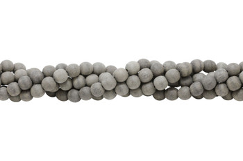 Grey Wood Matte No Wax 8mm Round