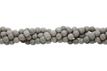 Grey Wood Matte No Wax 8mm Round