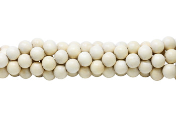 White Wood Natural Polished 12mm Round