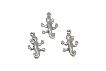 Stainless Steel 19.5x12mm Gecko Charm