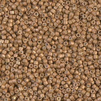 Delicas Size 11 Miyuki Seed Beads -- 1163 Galvanized Mead Matte