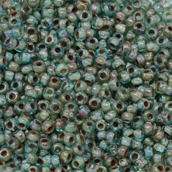 Size 8 Miyuki Seed Beads --  4506 Picasso Transparent Olivine