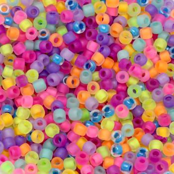 Size 8 Matsuno Seed Beads -- Neon Mix Matte
