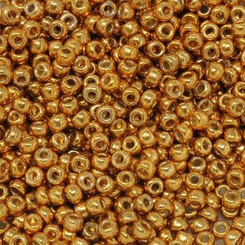 Size 8 Miyuki Seed Beads -- D4203 Duracoat Galvanized Deep Gold