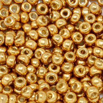 Size 6 Miyuki Seed Beads -- D4203 Duracoat Galvanized Deep Gold