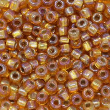 Size 6 Miyuki Seed Beads -- 634B Amber AB / Silver Lined
