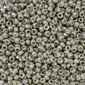 Size 8 Miyuki Seed Beads -- D4221 Duracoat Galvanized Light Smokey Pewter