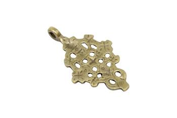 Indian Brass 27x47mm Cross