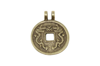 Indian Brass 30mm Dragon Coin