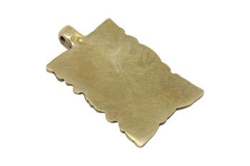 Indian Brass 35x56mm Rectangular Pendant