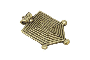 Indian Brass 35x60mm Shield Pendant