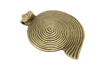 Indian Brass 50x65mm Shell Pendant