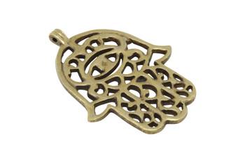 Indian Brass 52x70mm Hamsa Pendant