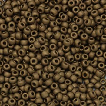 Size 8 Miyuki Seed Beads -- F457P Gold Bronze Matte