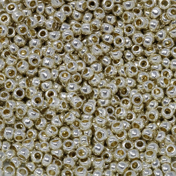 Size 8 Toho Seed Beads -- P470 Galvanized Silver