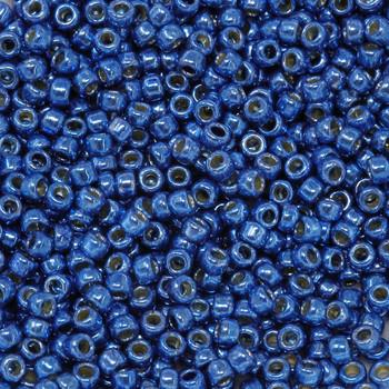 Size 8 Toho Seed Beads -- 495G Galvanized Light Sapphire