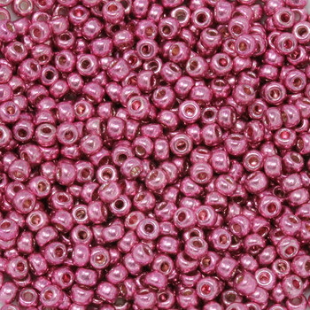 Size 8 Miyuki Seed Beads -- D4210 Duracoat Galvanized Hot Pink