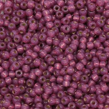 Size 8 Miyuki Seed Beads -- D4247 Duracoat Fuchsia Silver Lined