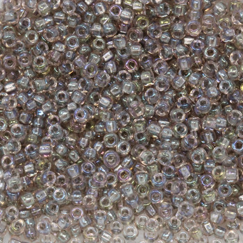 Size 11 Miyuki Seed Beads -- 737 Beige AB / Sparkle Beige Lined