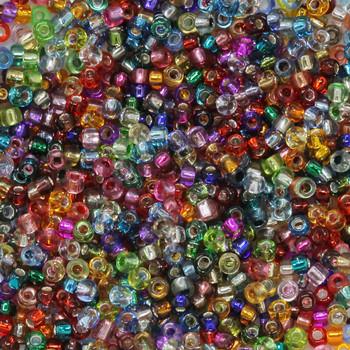 Size 11 Miyuki Seed Beads -- Silver Lined Mix