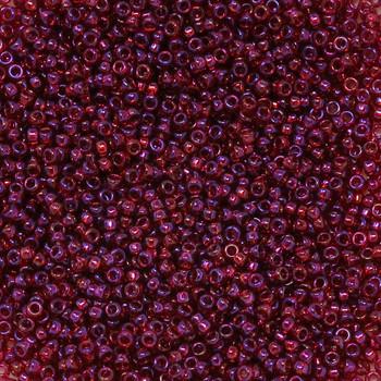 Size 15 Miyuki Seed Beads -- 299J Transparent Burgundy AB