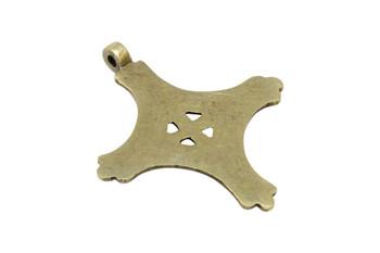 Indian Brass 65x75mm Cross Pendant
