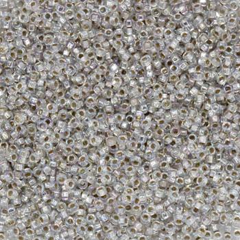 Size 15 Miyuki Seed Beads -- 635 Crystal AB / Silver Lined