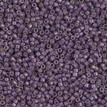 Delicas Size 11 Miyuki Seed Beads -- 1174 Galvanized Eggplant Matte