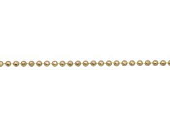 Satin Hamilton Gold 1.5mm Diamond Cut Ball Chain - Sold By 6 Inches