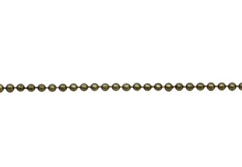 Antique Brass 1.5mm Diamond Cut Ball Chain - Sold By 6 Inches