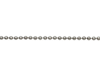 Antique Silver 1.5mm Diamond Cut Ball Chain - Sold By 6 Inches