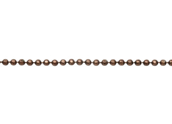 Antique Copper 1.5mm Diamond Cut Ball Chain - Sold By 6 Inches