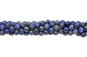 Natural Lapis Polished 6mm Round
