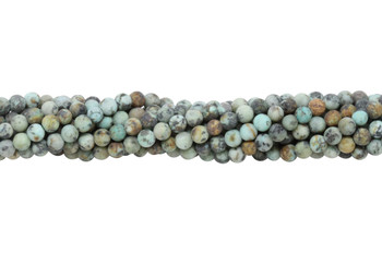 African Turquoise Matte 4mm Round