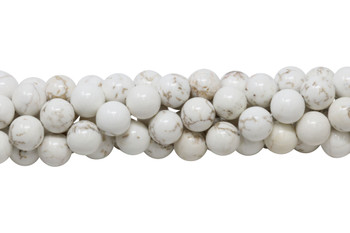 Howlite Natural Polished 12mm Round