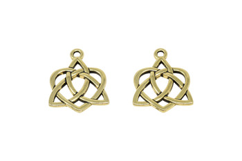 Large Open Celtic Heart - Gold Plated