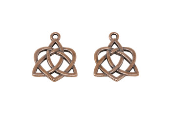 Large Open Celtic Heart - Copper Plated