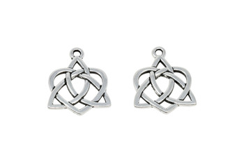 Large Open Celtic Heart - Silver Plated