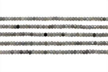 Labradorite Polished 3x4mm Faceted Rondel