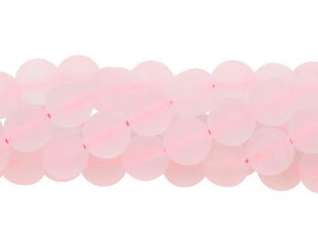 Rose Quartz Matte 10mm Round